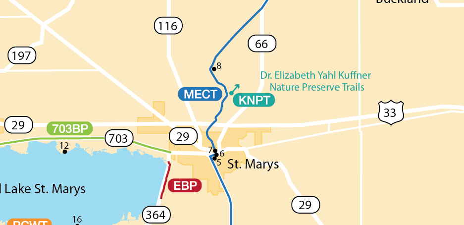 Dr Elizabeth Yahl Kuffner Nature Preserve Trail Map