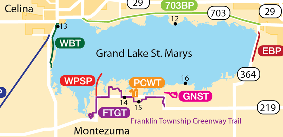 Map of Franklin Township Greenway Trail