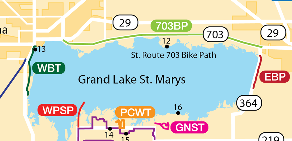 Map of St Route 703 Bike Path.