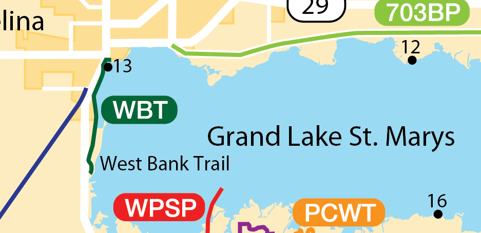 Map of West Bank Trail
