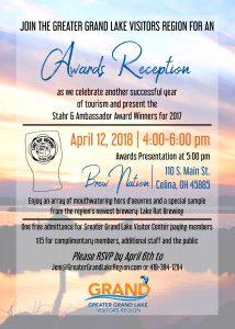 Greater Grand Lake Visitors Region Awards flyer
